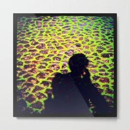Green Cobbles Metal Print