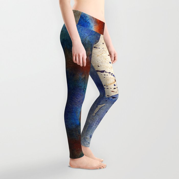 Blue Color Splash Leggings