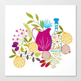 Kitchen Medley Canvas Print