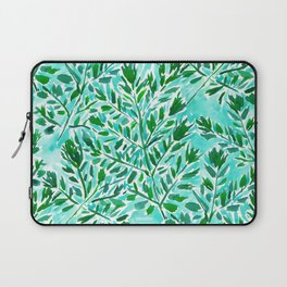 FRONDLY FRONDS Green Leaves Laptop Sleeve