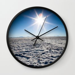 Salt Flat Sun Flare Wall Clock