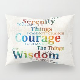 Colorful Serenity Prayer by Sharon Cummings Pillow Sham