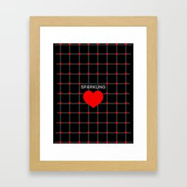 Sparkling Heart Framed Art Print