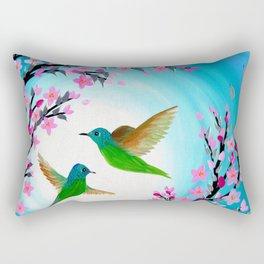 Hummingbird Design Rectangular Pillow