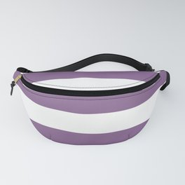 Pomp and Power - solid color - white stripes pattern Fanny Pack