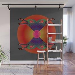 Red Kiss / Love Symbol / Pattern 12-01-17 Wall Mural