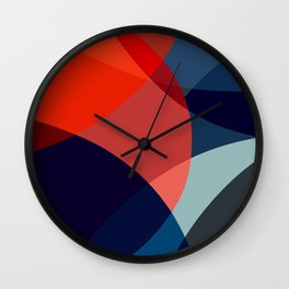 Curved abstract Wall Clock