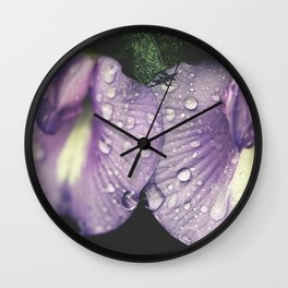 Nostalgic Purple Wall Clock