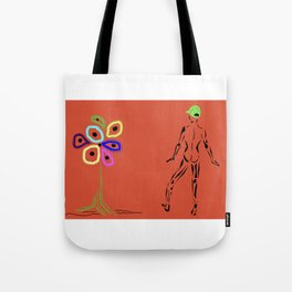 Flower With Male Tote Bag