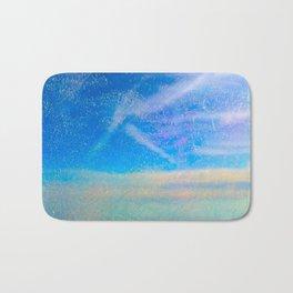 Frosty Window Above Clouds Bath Mat