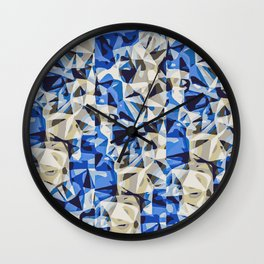 blue black and grey modern abstract background Wall Clock
