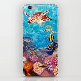 Zach's Seascape - Sea turtles iPhone Skin
