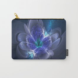 3D Blue Flower V1 Carry-All Pouch