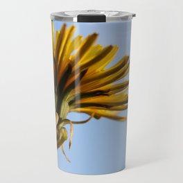 Yellow Dandelion Blue Sky Travel Mug