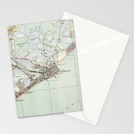 Vintage Map of Atlantic City NJ (1941) Stationery Cards
