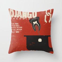 Django Unchained, Quentin Tarantino, alternative movie poster, Leonardo DiCaprio, Jamie Foxx Throw Pillow