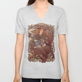 NOUVEAU FOLK WITCH Unisex V-Neck