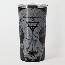 Cat Skull Travel Mug
