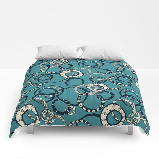 Honolulu hoopla blue Comforters