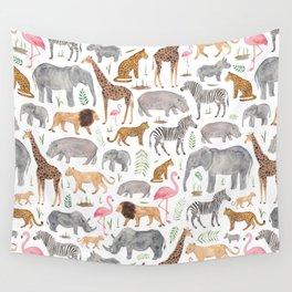 Safari Animals Wall Tapestry