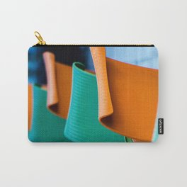 Blue Green and Orange Abstract Carry-All Pouch