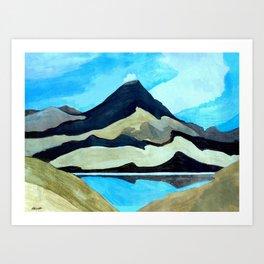 Tama Lakes Art Print