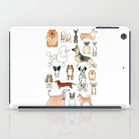 dogs iPad Cases featuring Dogs by Rebecca Bennett