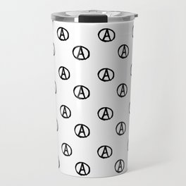 Symbol of anarchy bw 2 Travel Mug