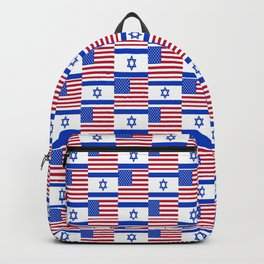 Mix of flag: usa and israel Backpack