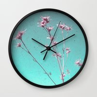 alone Wall Clocks featuring Alone by Cassia Beck