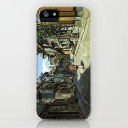 Rue de la Bavole Honfleur - Claude Monet - 1864 iPhone Case