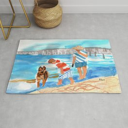 A Day at the Beach (finished) Rug