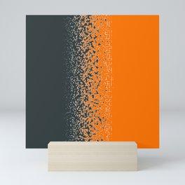 Shredded ORANGE Mini Art Print