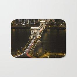 Budapest Chain Bridge Bath Mat