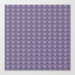 Tribal Patter in Violet Background Canvas Print