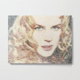 Hollywood Actresses - Nicole Kidman Metal Print