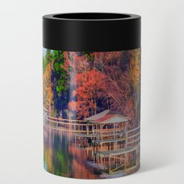 Autumn on the Lake Can Cooler