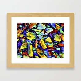 Colorful Rock Abstract Framed Art Print