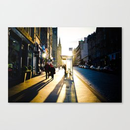 Royal Mile Sunset Canvas Print