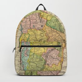 Vintage Map of Vermont (1909) Backpack
