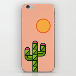 Desert sun / cactus iPhone Skin
