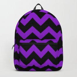 Purple Chevron Backpack