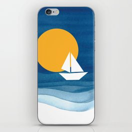 A sailboat in the sea iPhone Skin