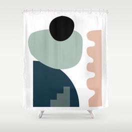 Shape study #18 - Stackable Collection Shower Curtain