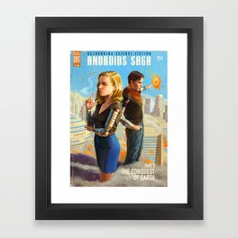 Androids Saga - The Conquest of Earth Framed Art Print