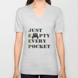Jeep - Just Empty Every Pocket Unisex V-Neck