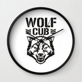 Wolf Club Wall Clock