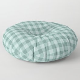 Gingham Pattern - Teal Floor Pillow