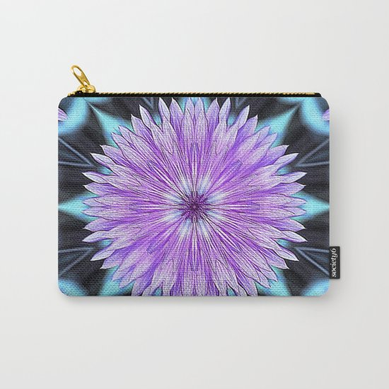 Floral Kaleidoscope Carry-All Pouch