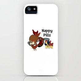 Happy Pills Chickens iPhone Case